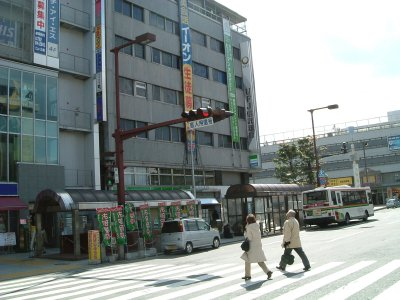 Accommodation&Himeji in front of Himeji station